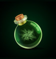 magic bottle with smoke vector image vector image