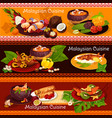 malaysian cuisine banner for exotic asian menu vector image vector image