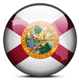 Map on flag button of USA Florida State vector image vector image