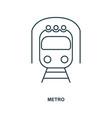 metro icon outline style icon design ui vector image