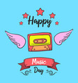 music day card style collection vector image vector image