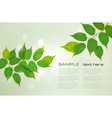 nature green background vector image vector image