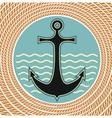 nautical anchor symbol vector image vector image