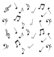 notes music sheet pattern icon vector image vector image
