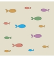 pattern of fish vector image