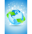 Planet Earth with Green Arrows vector image vector image