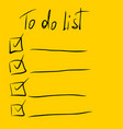 planning to do list ticking vector image