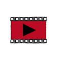 play video multimedia music web icon vector image vector image