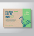 premium quality duck meat packaging label vector image vector image