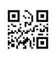 qr code qr code in flat style black qr code vector image