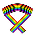 rainbow ribbon icon icon cartoon vector image vector image