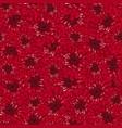 red chrysanthemum seamless background vector image