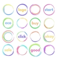 round button vector image vector image
