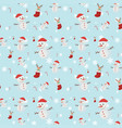 seamless background with many snowmen vector image