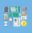 set investment and financial icons vector image vector image