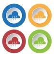 set of four icons - rain rainy vector image vector image