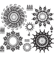 Set of ornamental pattern vector image vector image