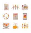 set of social networking icons and concepts in vector image vector image