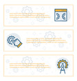 simple banners set engineering items vector image vector image