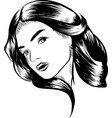 simple line of beautiful women vector image