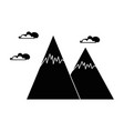 snowy mountains isolated icon vector image vector image