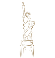 statue of liberty sketch vector image vector image