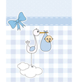 stork with newborn baby vector image vector image