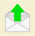 The arrow indicates the envelope vector image