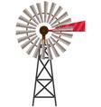 turbine on white background vector image vector image