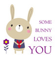 valentines card with bunny vector image