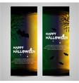 watercolor halloween banner vector image
