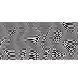 wave striped textured vector image vector image