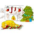 Christmas sketch vector image