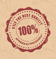 Set product quality stamps vector image