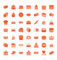 49 bakery icons vector image vector image