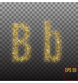 alphabet gold letter b on transparent background vector image
