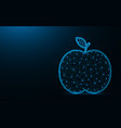 apple low poly design fruit abstract geometric