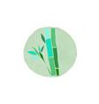 bamboo logo design vector image vector image
