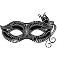 beautiful mask with butterfly vector image vector image