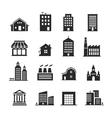 Building shop icon set vector image vector image