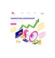 business marketing set symbol vector image