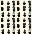 Cactus pattern cartoon cactus