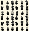 cactus pattern cartoon cactus vector image vector image