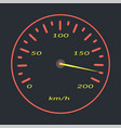 car speedometer with red lights isolated vector image