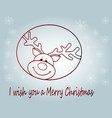 cartoon christmas deer vector image vector image