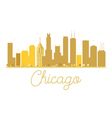 Chicago City skyline golden silhouette vector image vector image