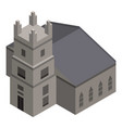 church tower icon isometric style vector image