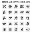 Config icon vector image vector image