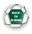 cut paper logo back to school vector image vector image
