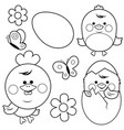 cute chicken and eggs vector image